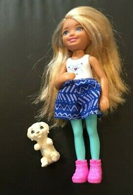 """Barbie Club Chelsea Doll WITH DOG puppy 6"""" action figure toy girl dreamtopia"""