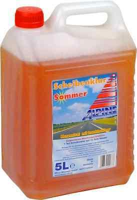Klar Reiniger (ALPINE Scheibenklar Sommer 1:10 5 Liter (0,90€/L) Konzentrat Insektenlöser 5L)