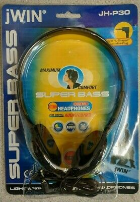 jWIN Super Bass Digital Stereo Headphones Sealed New JH-P30 Retro Throwback