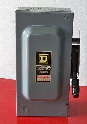 H362 Square D 60 Amp 600 Volt Fusible Safety Switch Series F1 Nema1