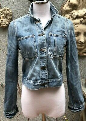 NWT Abercrombie & Fitch Distressed Cropped Jean Jacket, size L