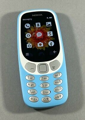New Other Unlocked Nokia 3310 3G TA-1036 GSM Bar GSM Cell Phone Azure Light Blue
