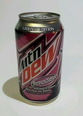 Mountain Dew Supernova limited edition 12 oz soda can collectable