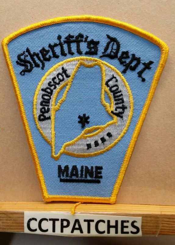 PENOBSCOT COUNTY, MAINE SHERIFF LIGHT BLUE (POLICE) SHOULDER PATCH ME