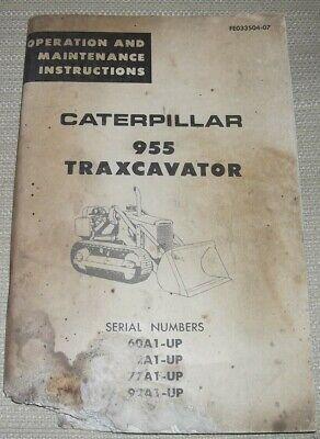 Cat Caterpillar 955 Traxcavator Track Loader Operation Maintenance Manual 60a
