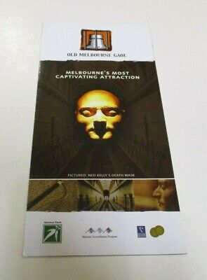 Old Melbourne Gaol Brochure - Most Captivating Attraction & Ned Kelly Live