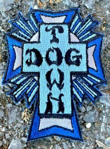 Dogtown Skateboards Blue Cross Logo Patch