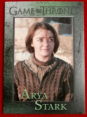 GAME OF THRONES - Season 4 - Card #38 - ARYA STARK - Rittenhouse 2015