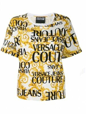 VERSACE JEANS COUTURE  ladies baroque print t-shirt size 10