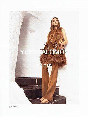 Publicite advertising 126  2016     les fourrures yves salomon