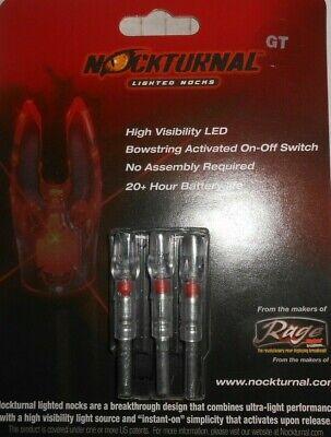 @NEW@ 2019 3pk. Nockturnal Gold Tip Red Lighted Nocks! NT-102 GT nock Gold Tip Gt Nocks