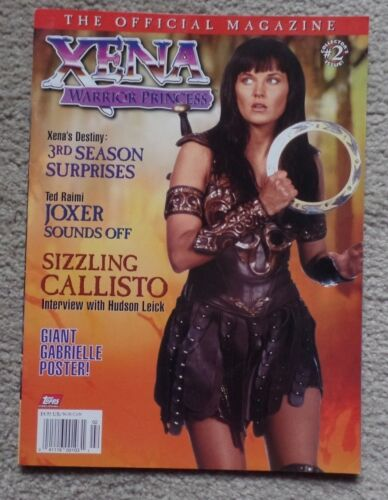 1998 XENA Warrior Princess Official Magazine #2 Issue w/Giant Gabrielle Poster