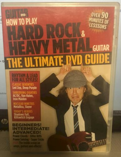 Guitar DVD How to Play Hard Rock & Heavy Metal Guitar Ultimate DVD Guide * MINT!