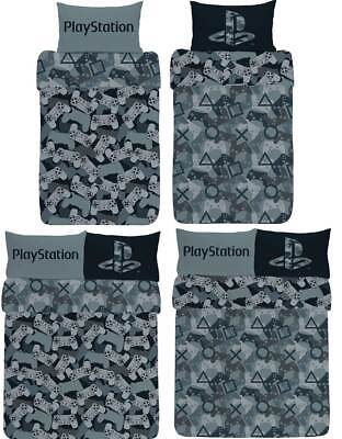 Sony PlayStation Camo Reversible Duvet Cover Bedding Set Single Double Boys