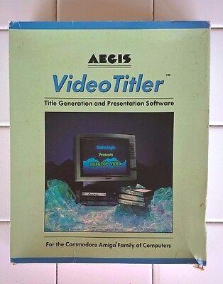 VideoTitler For Commodore Amiga, IN BOX, Aegis