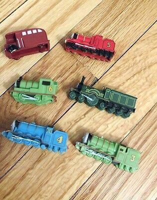 Thomas The Train Birthday Cake (x6 THOMAS THE TANK MINIATURE CAKE TOPPERS PVC RUBBER TRAIN SMALL BIRTHDAY)
