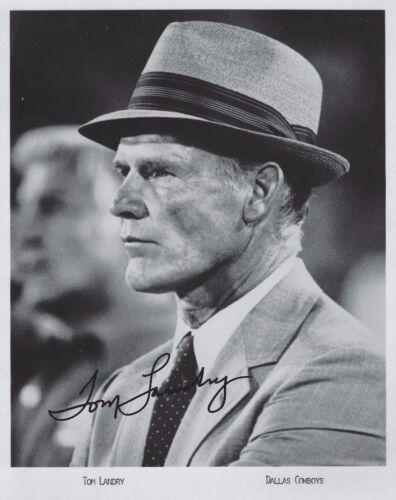 Tom Landry Dallas Cowboys Coach Autographed Signed 8x10 Photo Reprint