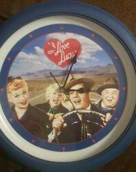 Vintage I Love Lucy  Talking Wall Clock That Plays Lines From The TV Show 13in