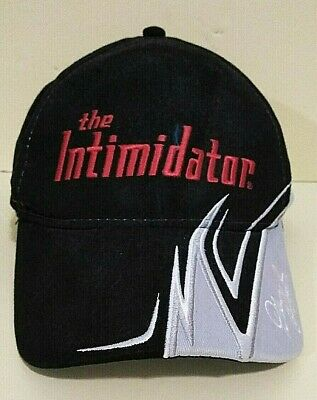Dale Earnhardt Halloween Costume (The Intimidator Dale Earnhardt Winners Circle NASCAR Black Cap Red Embroidery)