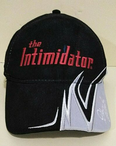 The Intimidator Dale Earnhardt Winners Circle NASCAR Black Cap Red Embroidery