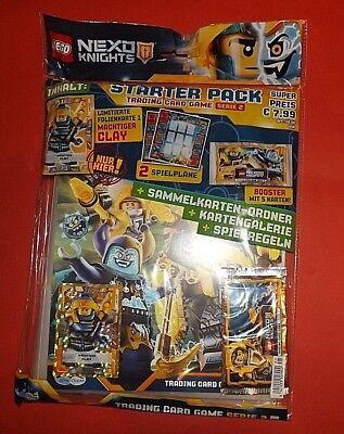 Lego Nexo Knights Serie 2 Trading Card Sammelordner +Limitierte Karte +1 Booster