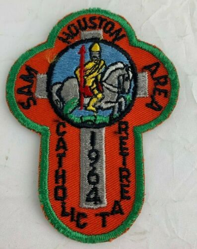 BSA 1964 Sam Houston Area Catholic Retreat Orange Patch Vintage