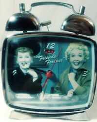 VINTAGE I LOVE LUCY FRIENDS FOREVER WINDUP TV ALARM CLOCK** WORKS GREAT**