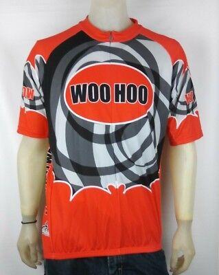 e548c456f Atac Sportswear Mens Woohoo Orange Black Cycling Vest Size XL Made in Canada