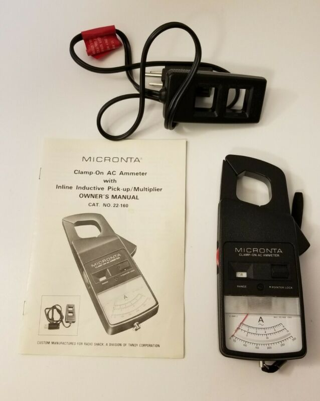 MICRONTA AC CLAMP AMMETER W/ INDUCTIVE PICKUP - CAT # 22-160 - NEW/OPEN BOX