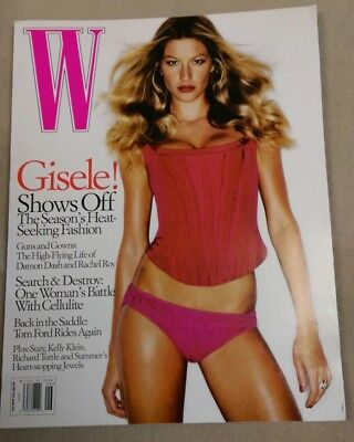 W Magazine June 2005 Gisele Bundchen Daria Werbowy Damon Dash