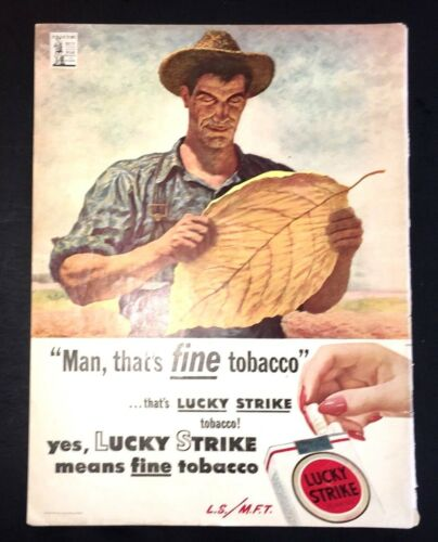 Life Magazine Ad LUCKY STRIKE Reverse THREE FEATHERS Blended Whiskey 1944 Ad