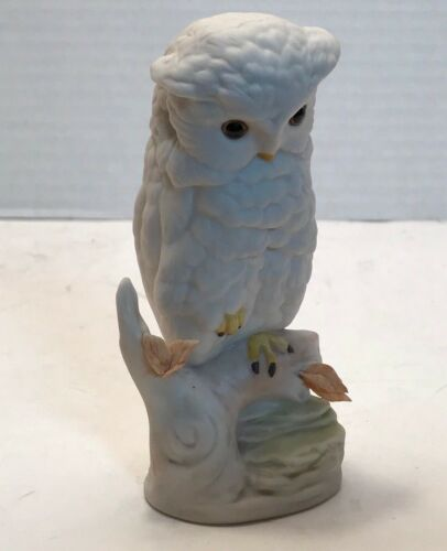 Cybis White Snow Owl Figurine Signed