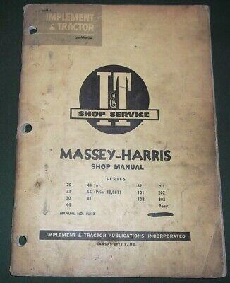 Massey Harris It 20 22 30 44 55 81 82 101 102 201 Tractor Service Repair Manual