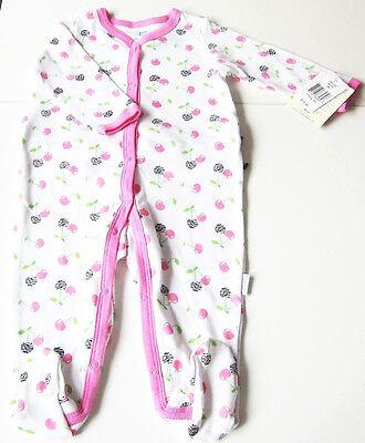 Rosa Vitamine (Schlafanzug Gr.68 Vitamin Baby NEU 100% Baumwolle Rüschen Strampler baby)