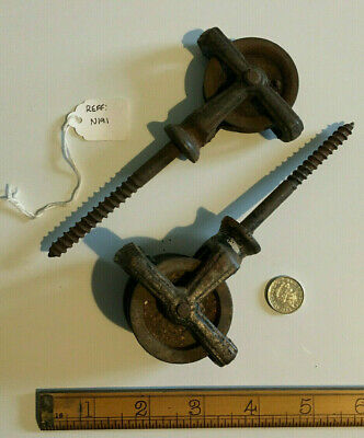 Old Vintage One Double & One Single Pulley Wheel for Creel.