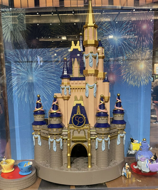 "2021 Disney Parks 50th Anniversary Cinderella Castle Playset 23"" Light Up New"