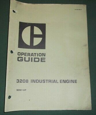 Cat Caterpillar 3208 Industrial Engine Operation Operator Manual Book Sn 90n