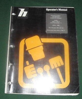 International Dresser 175c Crawler Loader Operation Maintenance Manual Book