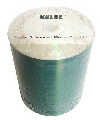 100 JVC Taiyo Yuden Value Line CD-R 52X 700MB White Inkjet Printable Media Disc