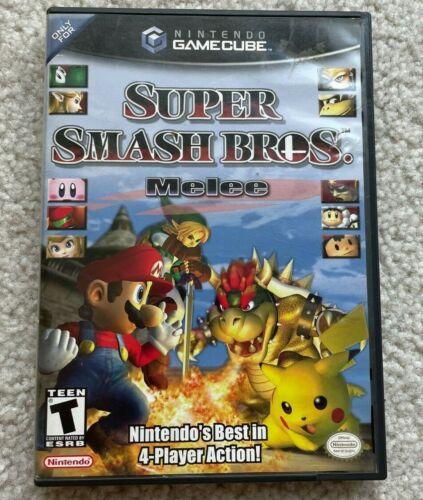 Super Smash Bros Melee (Nintendo GameCube, 2001) Case Only No Disc or Manual
