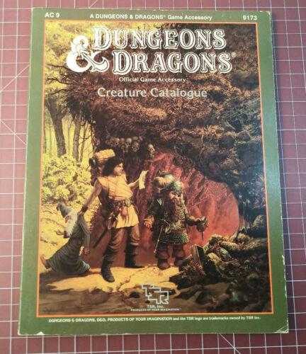 AC9 Creature Catalogue 9173 - 1986 D&D