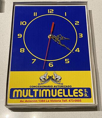 Vintage 90's/2000's Multimuelles SA Peru Clock Auto Parts Supply Store Sign