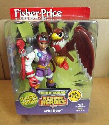RESCUE HEROES ARIEL FLYER NIGHT SQUAD NEW ON CARD 1999 FISHER PRICE