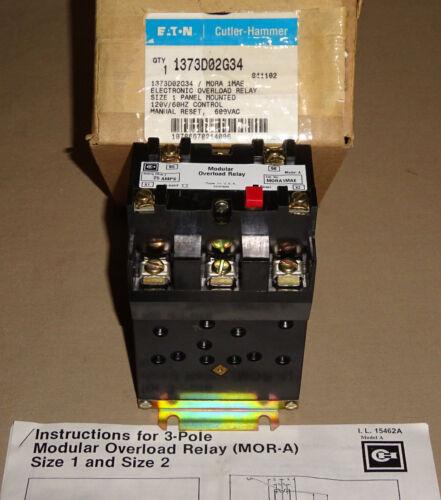Cutler Hammer MORA1MAE Modular Overload Relay 1373D02G34 Eaton