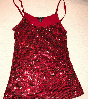 NAUGHTY SEXY HALLOWEEN COSPLAY WOMENS LAS VEGAS BOZZOLO LARGE RED TANK TOP