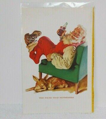 """1958 COKE COCA-COLA AD Santa Kicking off Boots Fawn 6 5/8"""" x 10"""" Revere Cameras"""