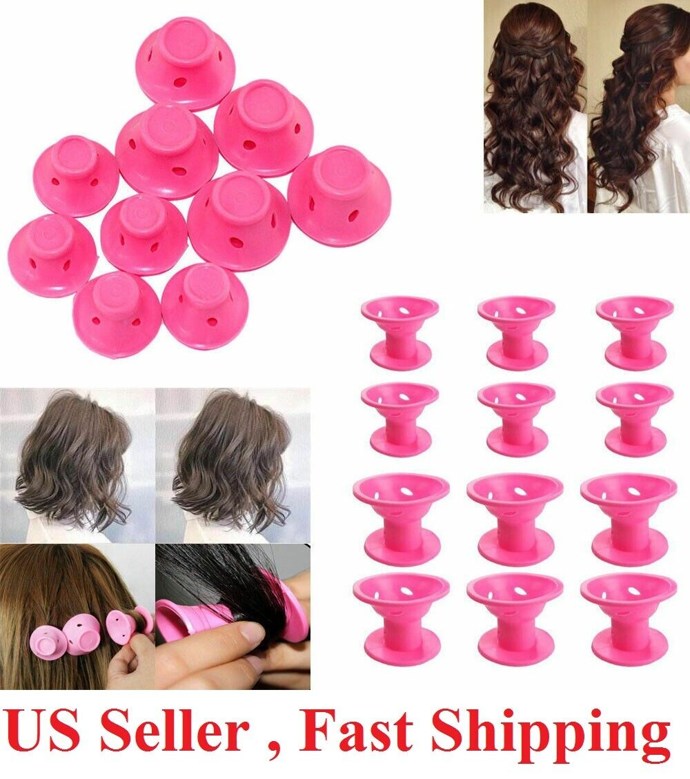 20 PCS Silicone No Heat Hair DIY Curlers Magic Soft Rollers Hair Care Tool Hair Care & Styling