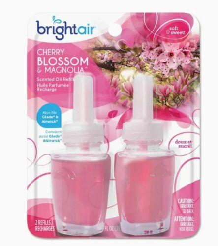 Bright Air Scented Oil Refills Freshner Cherry Blossom & Magnolia -2 Refills