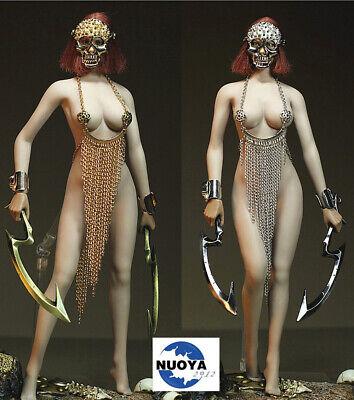 Female Doll Costume (Custom 1/6 Female Costume Alloy Skull Mask Bracelet No Body Fit 12in. PH)