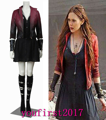 Avengers: Age of Ultron Scarlet Witch Wanda Superhero Uniform cosplay Kostüm ()